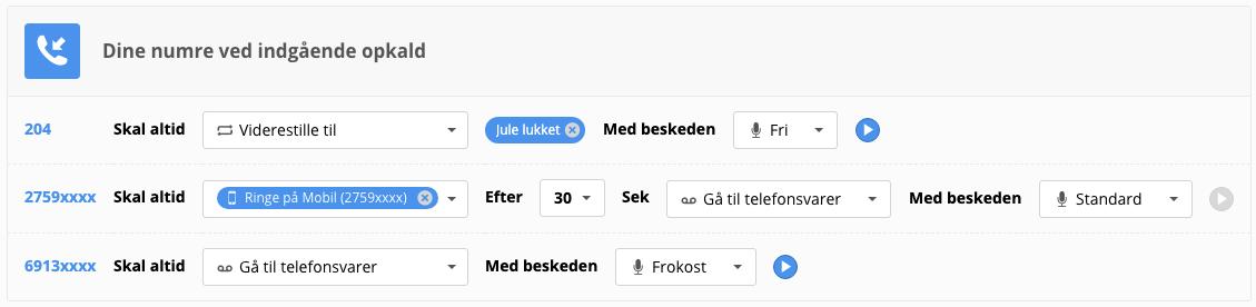 Profilindstillinger på Myfone.dk